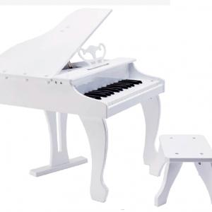 ELEGANT GRAND PIANO DE COLA ELÉCTRICO INFANTIL BLANCO